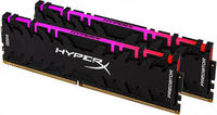 16GB (Kit of 2*8GB) DDR4-2933 HyperX® Predator DDR4 RGB (Dual Channel Kit), PC23400, CL15, 1.35V, BLACK heat spreader, Dynamic RGB effects featuring HyperX Infrared Sync technology, Intel XMP Ready