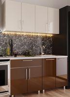 Кухонный гарнитур Bafimob Mini (High Gloss) 1.2m Beige/Brown