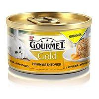 """Gourmet Gold """"Нежные биточки"""" (с курицей и морковью), 85гр"""