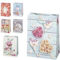 POL-MAK Пакет подарочный POL-MAK Цветы, 23х32х11 см