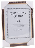 DOCUMENT Рамка для фото A4  дерево/золото