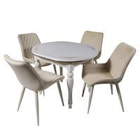 Комплект раздвижных столов DT A11 ivory + 4 сиденья DC 6020 ivory