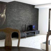 Ardezie Panel Rusty Black 15 x 60 cm
