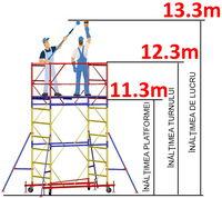 купить Передвижная модульная вышка ВСР (2,0x2,0) 1+9 в Кишинёве