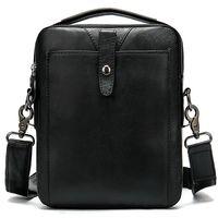Винтажная сумка из натуральной кожи, черная