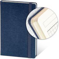 Ежедневник недатир. 13x21 см, 96 л, резинка, синий