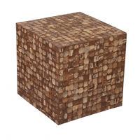 cumpără Scaun - cub 420x420x420 mm, maro în Chișinău