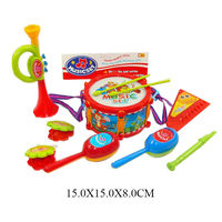 Набор музыканта (барабан, кастаньеты, дудочка, маракасы, гармошка) 441  (5710)