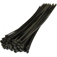 Хомут пластиковый черный 200X3,6