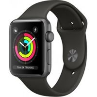 Apple Watch Series 3, 42mm, Space Grey Aluminium Case, Sport Band MR362, Grey