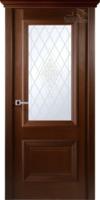 Дверь ФРАНЧЕСКО венге остекленная