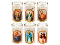 купить Свеча в стекл стакане с рисунком 6.2X10cm в Кишинёве