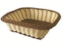 Корзинка для хлеба плетеная квадратная 18X18X6cm