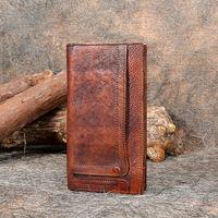Бумажник Винтаж Ручной Работы Из Натуральной Кожи