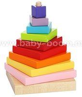 """Cubika 13357 Деревянная игрушка """"Пирамида """""""