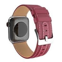 Ремешок Apple Watch Series1/2/3/4(44mm), Leather, Hoco Wine red