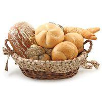 Хлебница плетенная овальная с чехлом 17905