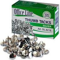 Кнопки OfficeLine 100 шт, никелированные