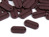 Wooden tag Handmade / nut