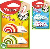 MAPED Ластик MAPED Ergo Fun, 2 штуки, блистер