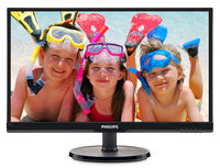 """21.5"""" Philips """"226V6QSB6"""", Black (IPS, 1920x1080, 8ms, 250cd, LED10M:1, DVI, D-Sub) (21.5"""" AH-IPS LED, 1920x1080 Full-HD, 0.248mm, 8ms, 250 cd/m², DCR 10 Mln:1 (1000:1), 16.7M Colors, 178°/178° @C/R>10, 30-83 kHz(H)/56-76 Hz(V), DVI + Analog D-Sub, Built-in PSU, Fixed Stand (Tilt -5/+20°), VESA Mount 100x100, ULTRA Narrow Bezel, Black)"""