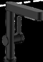 Finoris Baterie pentru lavoar, 230 cu duș extractibil 2jet și ventil push-open, negru mat