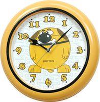 Часы RHYTHM настенные, круглые/желтые