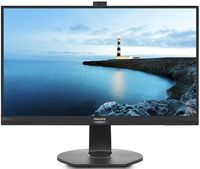 "27.0"" Philips ""272B7QPTKEB"", Black (PLS, 2560x1440, 5ms, 350cd, LED20M:1, DVI,HDMI,DP, WebCam, HAS) (27.0"" PLS LED, 2560x1440 WQHD, 0.233mm, 5ms GTG, 350 cd/m², DCR 20 Mln:1 (1000:1), 16.7M Colors (True 8-bit), 178°/178° @C/R>10, 30-99 kHz(H)/50-75 Hz(V), HDMI 1.4 + DisplayPort 1.2 + mini-DP 1.2 + HDMI 1.4, Stereo Audio-In, Headphone-Out, Built-in speakers 2Wx2, Built-in 2.0-Mpix webcamera w/microphone and LED indictor, USB 2.0 x3-Hub, Built-in PSU, HAS 150mm, Tilt: -5°/+20°, Swivel +/-175°, Pivot, VESA Mount 100x100, PowerSensor, Black )"