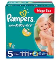 Pampers подгузники Mega Box 5 11-18 кг, 111 шт