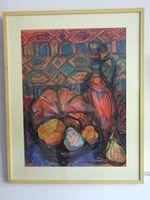 Натюрморт с тыквами, 70x50 см., пастель, бумага