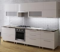 Bucătărie Bafimob Blum (High Gloss) 2.8m Beige