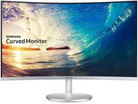 """27.0"""" SAMSUNG """"C27F591FD"""", Silver (Curved-VA Full-HD, 4ms, 250cd, LED Mega-DCR, HDMI+DP, Speaker) (27"""" VA-Curved  W-LED, Full-HD 1920x1080, 4ms (GtG), 250 cd/m², Mega ∞ DCR (3000:1), 16.7M sRGB Coverage 119.3%, 178°/178° @CR>10, Display Port, HDMI, D-Sub, Audio-In, Headphone-Out, Speakers, External Power Adapter, Fixed Stand T-Sape (Tilt -2/+20°), Magicbright, Magicupscale, Eco saving plus, Eye saver mode, Flicker free, Game mode, AMD Freesync,  Silver)"""