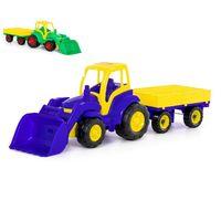 Полесье Трактор с прицепом и ковшом