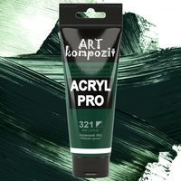 Краска акриловая Art Kompozit, (321) Зеленая ФЦ, 75 мл
