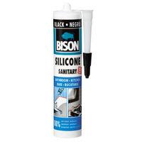 Bison Силикон санитарный Черный 280мл