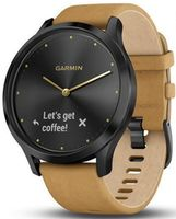 Фитнес-трекер Garmin Vivomove HR Onyx Black, Brown Suede Band