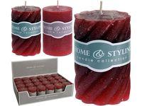 купить Свеча ребристая D5cm H7.5cm, красная в Кишинёве
