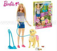 """Barbie DWJ68 Набор с куклой """"Уход за любимцем"""""""