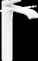 Vivenis Baterie înaltă pentru lavoar 250 cu ventil pop-up, alb mat