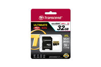 32GB MicroSDHC Transcend TS32GUSDU3 Ultimate+, Class 10, SD adapter, UHS-I, 633x