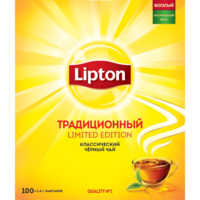 Lipton Black Traditional, 100 пак.