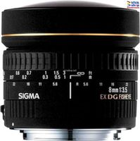 Prime Lens Sigma AF   8mm f/3.5 EX DG CIRCULAR FISHEYE F/Can