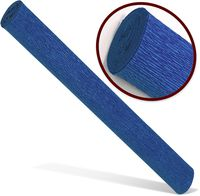 Бумага креповая INTERDRUK Premium 200x50см синяя