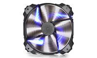"200mm Case Fan - DEEPCOOL ""XFAN 200"" Fan with Blue LED, 200x200x32mm, 700rpm, <26.3dBa, 86.57CFM, sleeve bearing, rubber de-vibration design, Big 4Pin and 3Pin Molex"