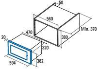 Встраиваемая микроволновая печь Cata MC 20 WH