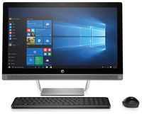 "All-in-One PC - 23.8"" HP ProOne 440 FullHD IPS Intel® Pentium® G4400T 2,9 GHz, 8GB DDR4 RAM, 128GB SSD+1TB HDD, DVD-RW, Card Reader, Intel® HD 630 Graphics, HD webcam, Wi-Fi/BT4.0, GigaLAN, 120W PSU, FreeDOS, USB KB/MS, Silver"