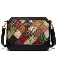 Наплечная сумка из натуральной кожи, винтажный стиль