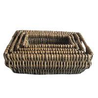 купить Набор 4 ивовые корзины 420x320x140, 360x260x120, 310x210x100,  250x150x80 мм в Кишинёве