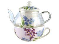 Чайник заварочный 500ml Elisir Romantic, с чашкой