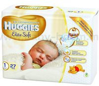 Huggies Elite Soft 1 (2-5 кг.) 27 шт.
